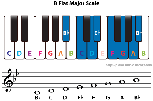 Diatonic Chords Of B Flat Major Scale Piano Music Theory